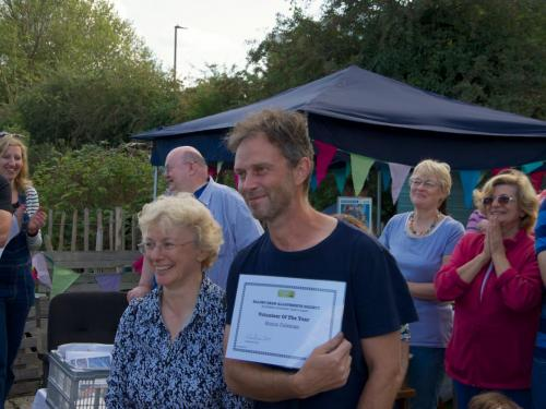 Simon - volunteer of the year