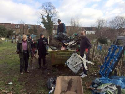 Northfields allotments rubbish removal