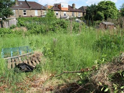 A plot needing a new tenant on Northfield Allotment