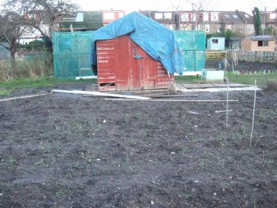 A picture of the shed in its original state before being refurbished