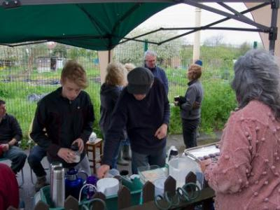 "Tea time supplied by Yasmin and Simon ""Scott"" in April"