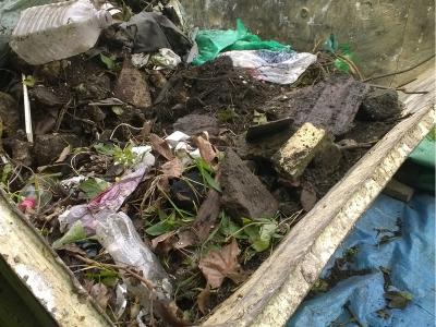 Skip number two for rubbish collected from the Radbourne walk
