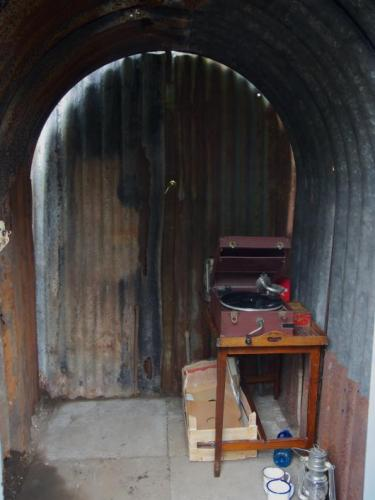 inside the Anderson Shelter