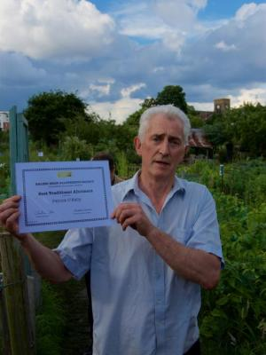 EDAS open day - Best traditional plot award winner
