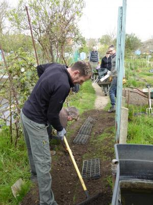 Northfields allotments path maintenance