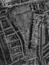 Aerial view, 1945