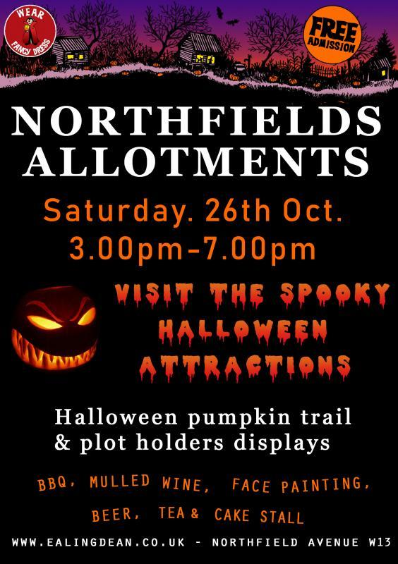 Northfields allotments Halloween open day 26th October 2019