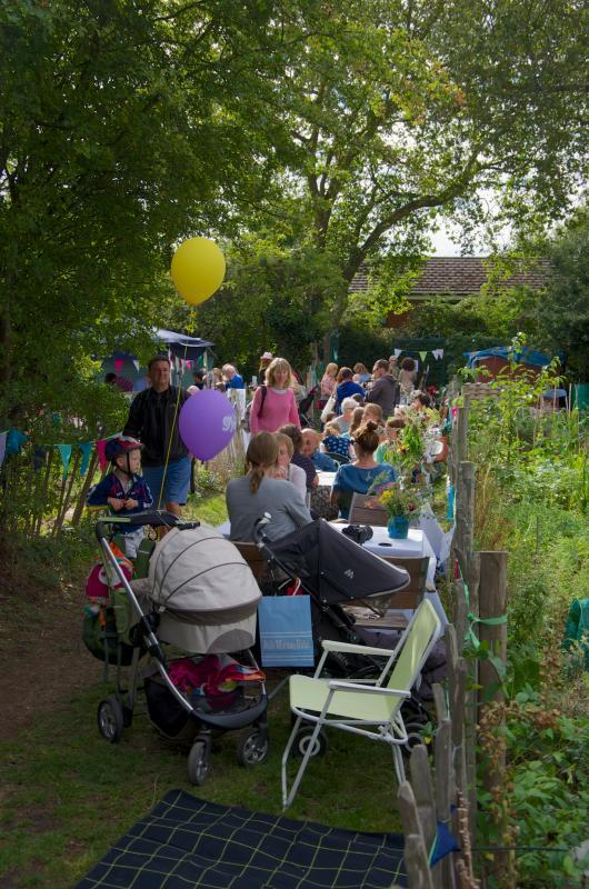 party atmosphere at the allotments