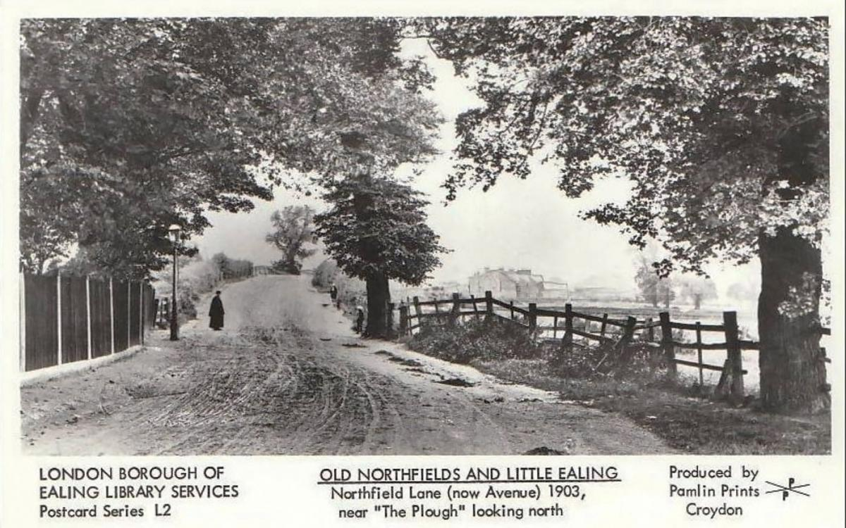 Another rural image of Northfield Avenue, near where the Plough pub is now